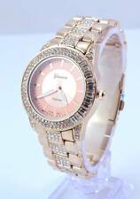 New rose Gold Plated Cubic Zirconia Women's Geneva Platinum Iced Out Wrist Watch