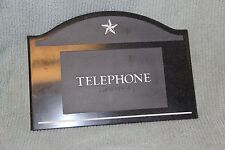 Telephone Public Sign with Braille