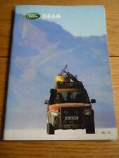Land Rover Gear folleto futuro Coleccionables! 2005 folleto Jm