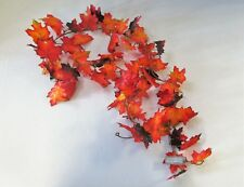 Artificial Maple Leaf Garland 180cm Red and Orange Leaves - Autumn Display