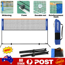 Badminton Net Height Adjustable Portable Tennis Volleyball Net with Stand Frame