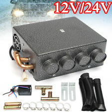 12/24V 4 Ports Car Underdash Universal Double Compact Heater Heat + Speed Switch