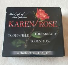 Hörbuchbox von Karen Rose 3 Hörbücher-16 CDs Todesbräute, Todesspiele, Todesstoß