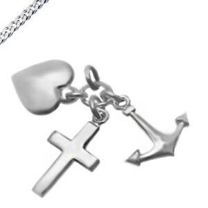 Anhänger Glaube Liebe Hoffnung auch mit Kette 925 Silber Neu Kettenanhänger