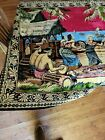 Vintage  Polynesian Island Theme Tapestry Rug 72x 49 inch