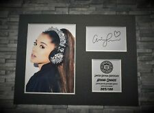 More details for ariana grande - signed autograph display - limited edition - mounted