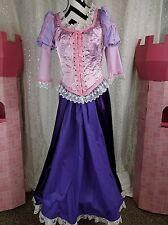 Purple lavendar adult rapunzel tangled cosplay costume gown princess dress sz M