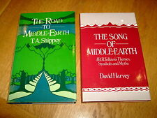 T A SHIPPY/D HARVEY-ROAD TO/SONG OF MIDDLE EARTH-TOLKIEN-VG/NF-ALLEN & UNWIN