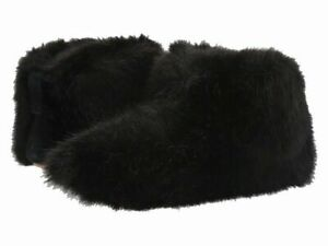 NIB UGG Amary Fur Fluff Slippers Women's Ankle Bootie Shoes Black 6 8