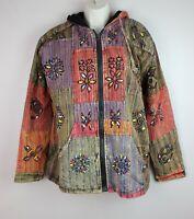 HANDMADE Hippy Boho Hoodie Patchwork Jacket Razorcut Embroidery Top Festival PJ4