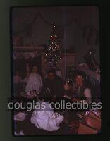 1963 35mm Kodachrome Photo slide Happy Girl with barbie doll Christmas