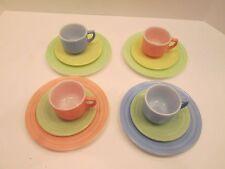 Child's Set - 12 Pieces Hazel Atlas Little Hostess Moderntone Dinnerware Plates