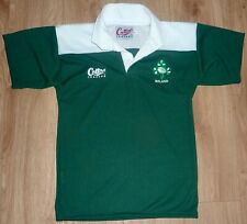 IRELAND RUGBY NEW Unworn Embroidered GREEN/WHITE Rugby Shirt SMALL S/Sleeve