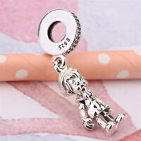 Authentic 100% 925 Sterling Silver Pinocchio CZ Dangle Charm Bead