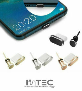 Metal Samsung Galaxy S20 S10 USB-C Charging Dock Earphone Port Dust Cover Plug