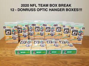 BENGALS - 2020 NFL Donruss Optic Team Box Break - 12 HANGER BOXES!!!