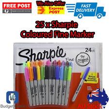 25 x Sharpie Colour Markers Coloured Permanent Fine Markers Pen Fine Point