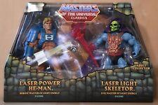 2015 MOTU Classics Laser Power He-Man & Laser Light Skeletor, MIB