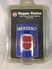 Sti Stopper Station Series 2000 Emergency Stop Ss 2402e Surface Mount Back Box