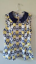 Hi There by Karen Walker Tile Print Peplum Top AU Size 8 RRP$109 NWT