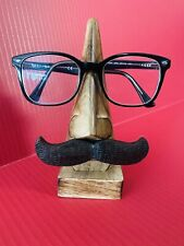 6 Inch Wooden Nose Mustache Shaped Spectacle Specs Eyeglass Glasses Holder Stand