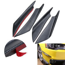 Plastic Front Bumper Decoration Shark Fin Spoiler Self Adhesive Canards Wing 4X