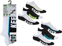 Ladies/ Gents 6 Pairs Red Tag Cushion Sole Sports Trainer Liners Socks