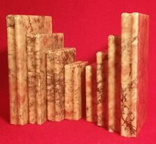 20s ART DECO italian alabaster bookend antique library vtg shakespeare poem book