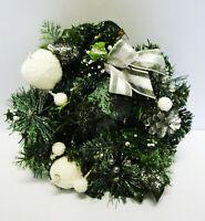 Kranz Weihnachten Adventskranz künstlich weiß modern Schnee Türkranz Xmas Deko