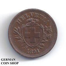 Schweiz 1 Rappen 1891 Kupfer - Switzerland