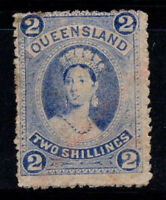 Queensland 1882 Mi. 58 Gestempelt 40% 2 Sh, Königin Victoria