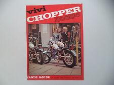advertising Pubblicità 1972 MOTO FANTIC CHOPPER 50