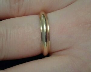 gold band ring size 14k real size 9