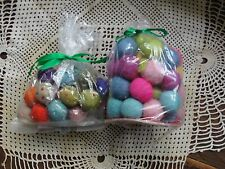 2 Bags Felt Balls - Mixed Colors - One Bag is Beaded - New in Original Bags