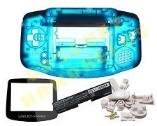 NEW COLOUR! Game Boy Advance GBA Replacement Electric Blue Shell, Lens & Buttons