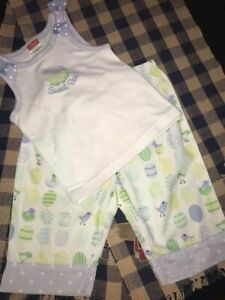 Gymboree Girls Size 18-24 Months Easter Egg Hunt Collection - Pajama Set GUC