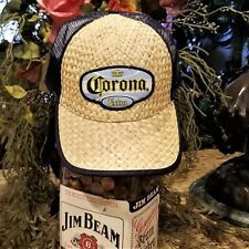 Vintage Corona Extra Straw & Mesh Officially Licensed Snapback Baseball Hat