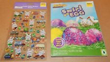Easter Egg Decorating Kit Dudley's Swirl & Glitzy Stickers Bunnies 50 Each 164S