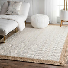 "3x5"" Feet Indian Braided Jute Floor Rug Purely Handmade Natural Rectangle Rug"