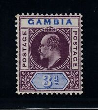 "Gambia, SG 61 var, MLH ""Slotted Frame"" variety"