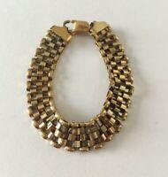 """Vintage Milor 925 Italy Sterling Silver Gold Tone Bracelet - 7.25"""""""