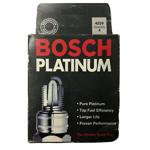 BOX of 4 Bosch Platinum 4220 Spark Plug for Cadillac, Dodge, Jeep, Mazda