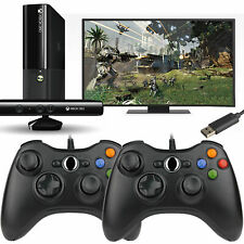 2 Pack USB Game Pad Controller For Microsoft Xbox 360 Console PC Windows XP 8 10