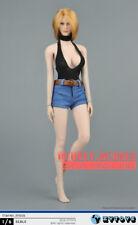 """1/6 Bodysuit Denim Shorts Set For 12"""" PHICEN TBL Hot Toys Female Figure ☆USA☆"""