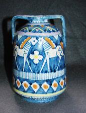 Italienische Majolika Keramik Vase sign. Vincenzo Pinto Viertri