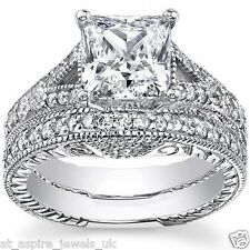 2.20 CT PRINCESS CUT DIAMOND SOLITAIRE ENGAGEMENT RING SOLID 14 CARAT GOLD