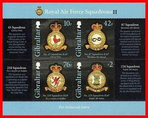 Gibraltar 2012 ROYAL AIR FORCE S/S SC#1333 MNH FV£3.28/CV$11.00  AVIATION