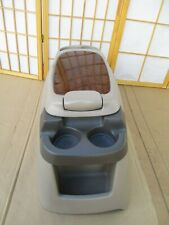 99-07 Ford F250 F350 00-05 Excursion Center Drink Cup Holder Storage Console TAN