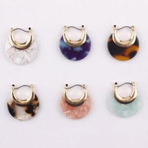 Fashion Leopard Resin Tortoise Half Moon Hoop Earrings or Women Boutique Jewelry