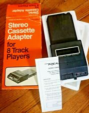 Vintage Realistic Stereo Cassette Adapter for 8 Track Players - Nos